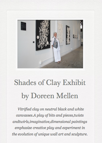Doreen Mellen Shades of Clay Exhibit