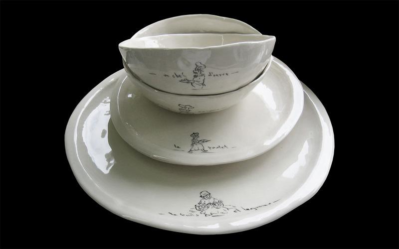 Doreen Mellen Parisienne bowls & plates